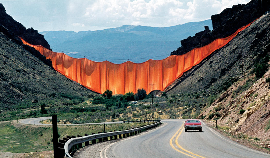 Where You'd Rather Be: Feel-Good Art - Jean Claude and Christo, Valley Curtain