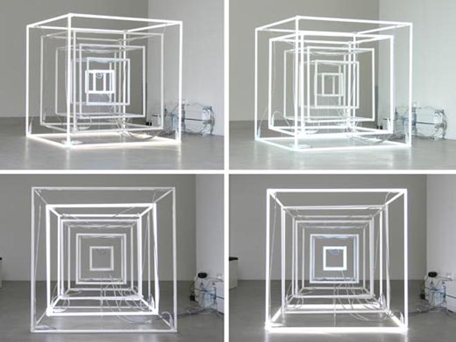 jeppe hein extended neon cube